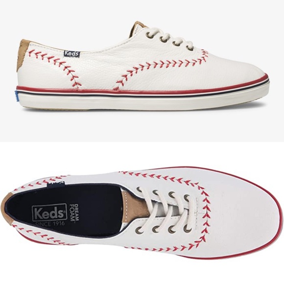Ked's Champion Pennant Leather Tennis Shoes 6.5